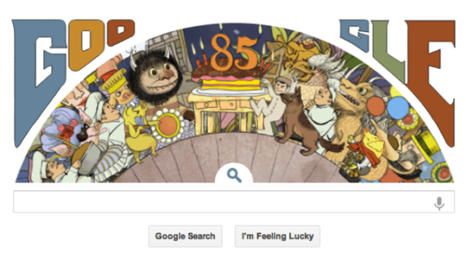 "Google Celebrates Birthday of ""Where the Wild Things Are"" Writer"