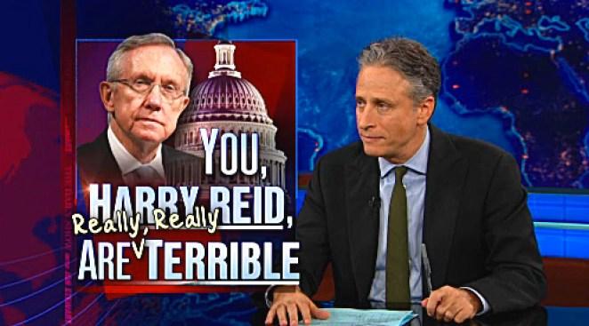 Stewart Rips into Harry Reid, Channels Ghost of Mitt Romney's Father