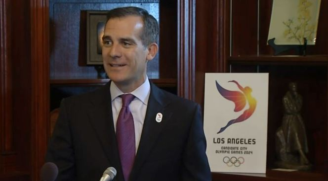 LA Mayor: Trump Victory Could Harm US Bid for '24 Olympics