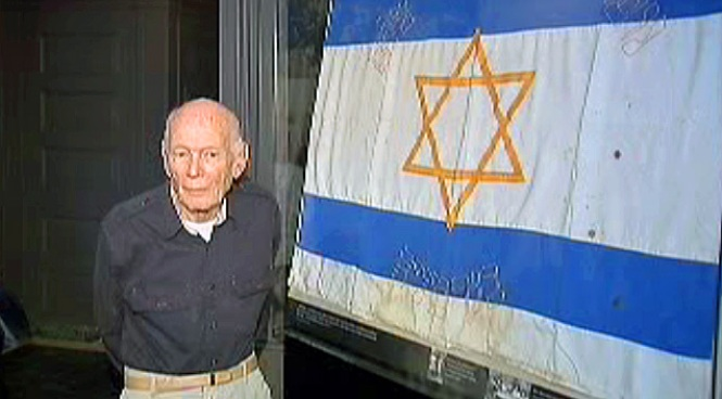 Holocaust Survivors' Flag Unfurled After 64 Years