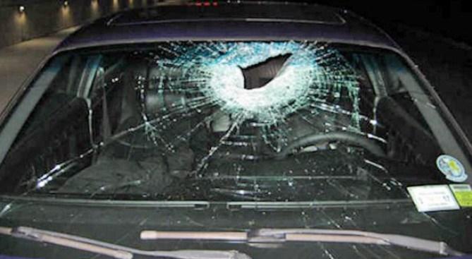 Brick Tossed from Bridge Injures Woman in Passing Car