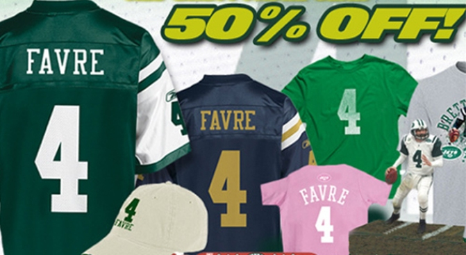 Great Time to Buy a Brett Favre Jersey