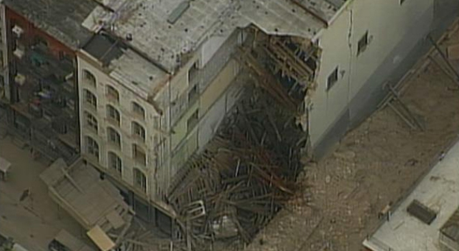 Collapsed Building Cited for Cracks, Loose Bricks