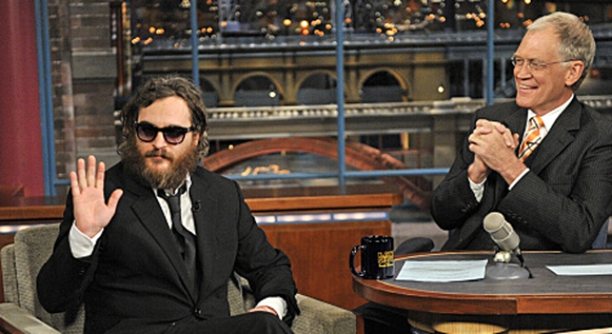 Phoenix Gives Trainwreck Interview on Letterman
