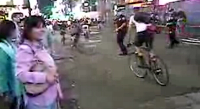 "Jurors Examine Video in Trial of Officer Accused of Cyclist ""Body Check"""
