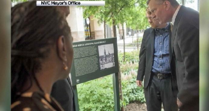 NYC Dedicates Plaque Marking 18th Century Slave Market