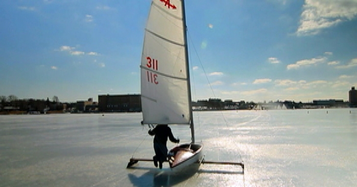 Ice Boating Warms Hearts of Devotees