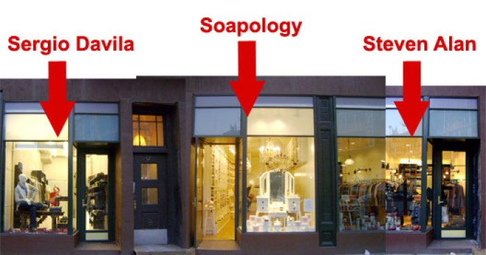 Now Open: Sergio Davila, Soapology and Steven Alan on 8th Avenue