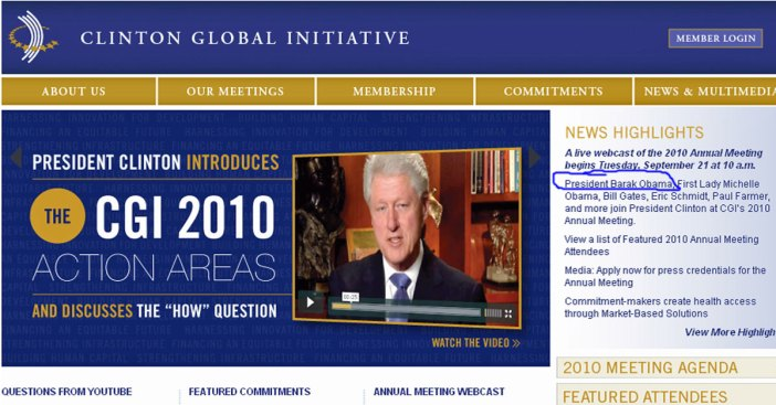 Who is 'Barak' Obama and What's He Doing at the Clinton Global Initiative?