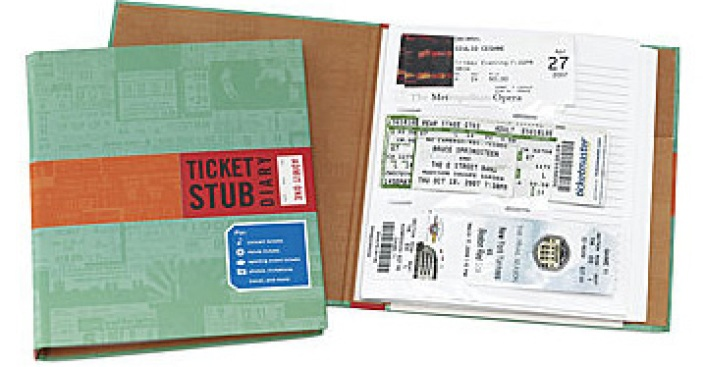 Deal of the Day: Ticket Stub Diary
