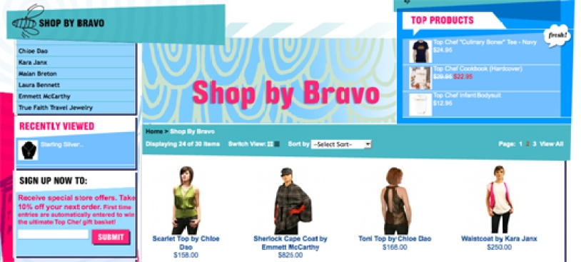 Bravo Launches Online Store, Considers Launching Several Fashion-Based Reality Shows