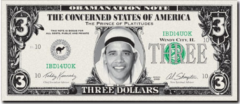 """Arab"" Obama on $3 Bill Sparks Outrage"