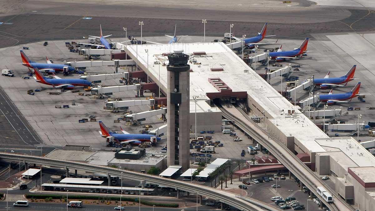 A June 12, 2009, aerial view of McCarran International Airport in Las Vegas.