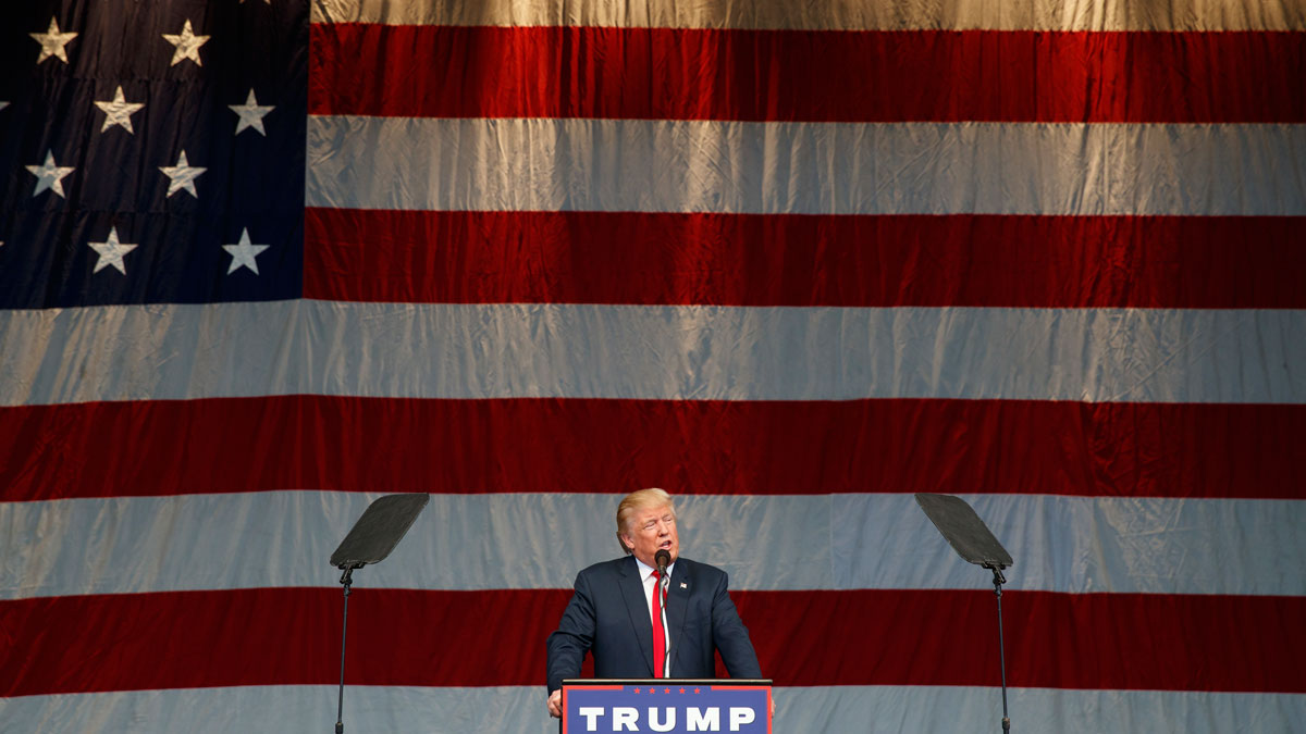Republican presidential candidate Donald Trump speaks during a campaign rally, on Oct. 5, 2016, in Henderson, Nev.