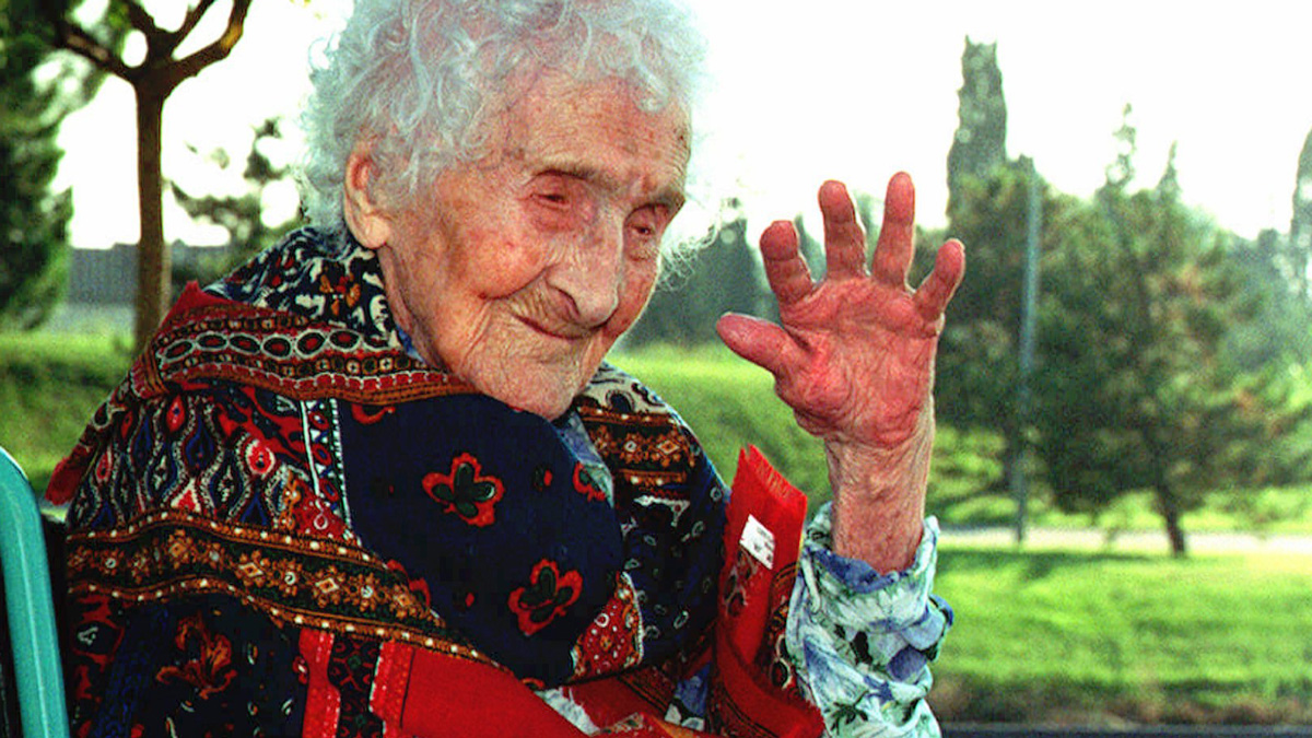 Jeanne Calment, seen here on October 17, 1995, in Arles, southern France, was the oldest person to ever live, passing away at age 122. According to a new study, humans' maximum lifespan is about 115 years.