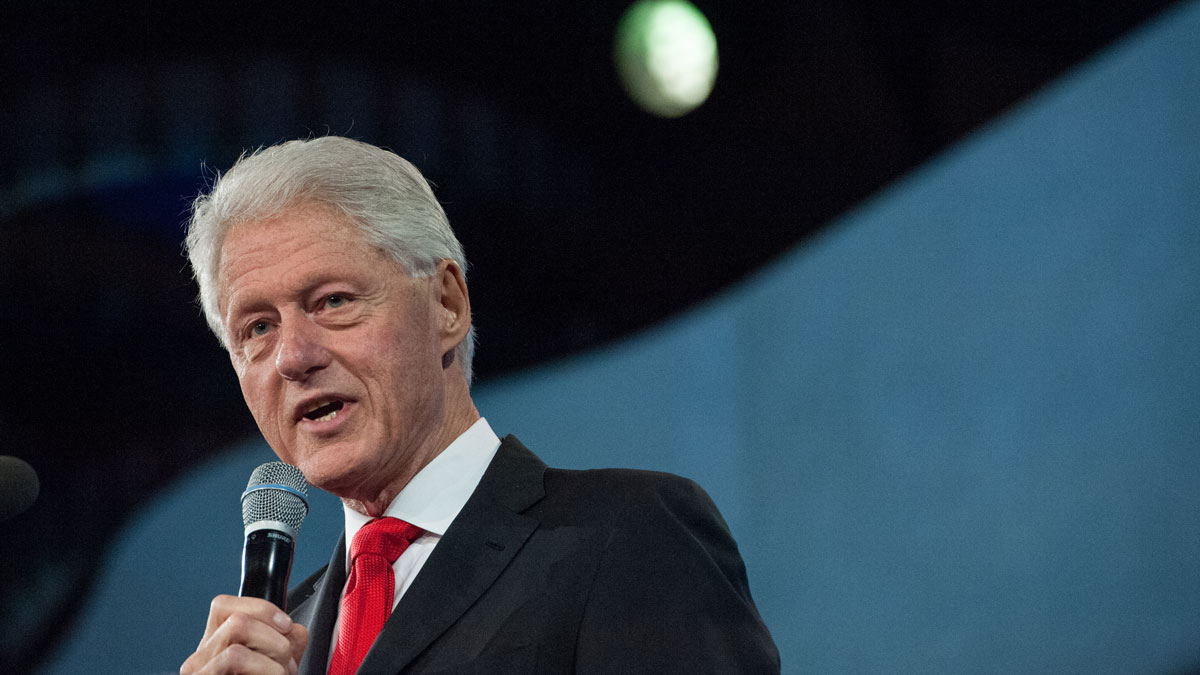 In this Sept. 21, 2016, file photo, former President Bill Clinton delivers a speech during the annual Clinton Global Initiative in New York City.