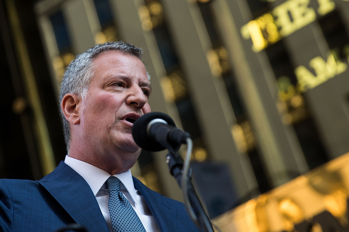 "After announcing New York City as a sanctuary for undocumented immigrants, de Blasio stopped by Trump Tower to speak with the president-elect. ""I was glad that the mayor came here -- obviously mayor of the nation's largest city and a neighbor to the new president-elect,"" Kellyanne Conway said. ""So it was good that that happened."""