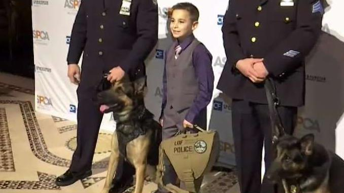 Boy Raises Money to Buy Bulletproof Vests for K9 Office