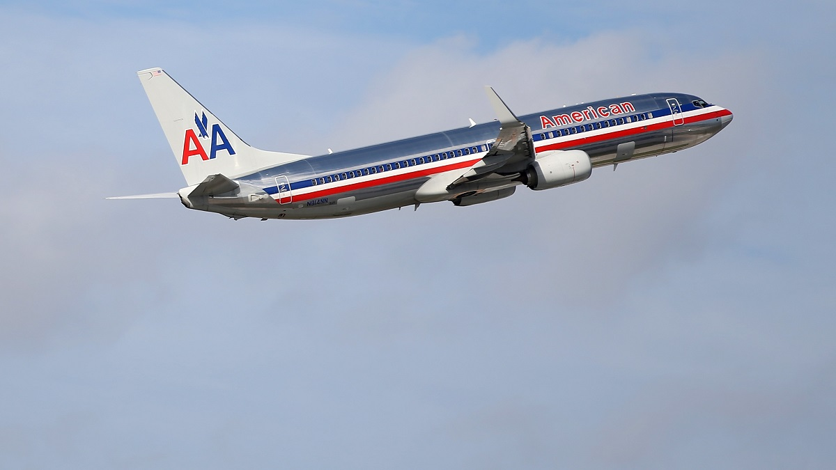 In this file photo, an American Airlines plane takes off from the Miami International Airport on November 12, 2013, in Miami, Florida.