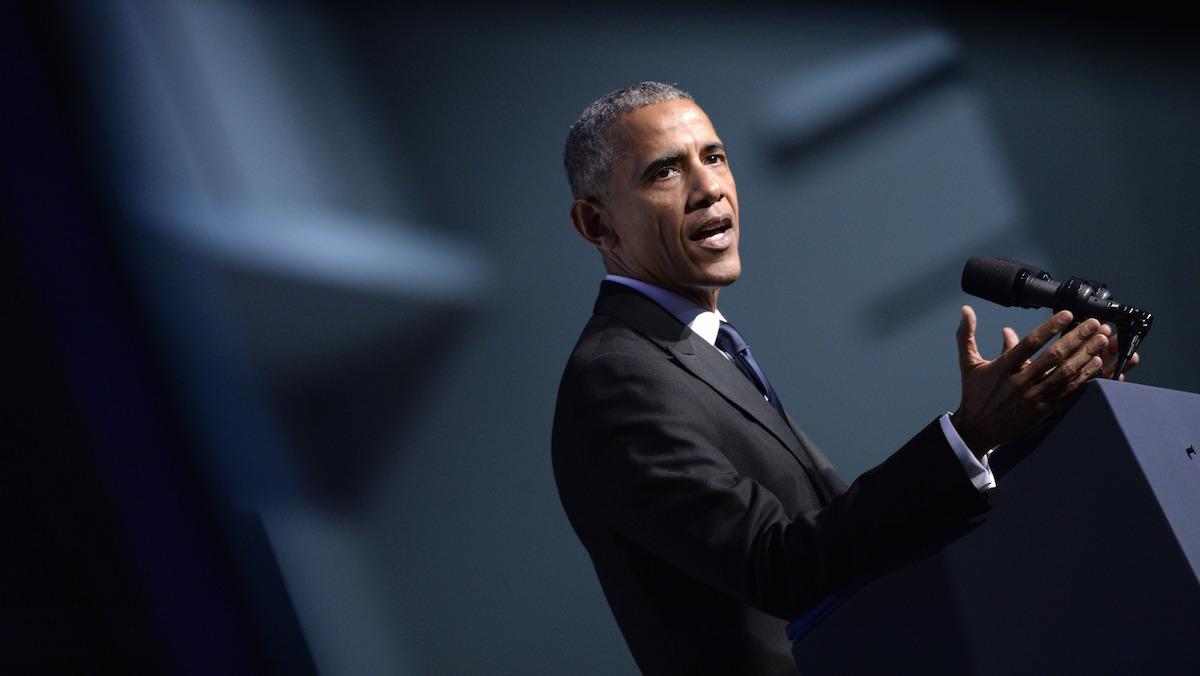 President Barack Obama speaks to the Congressional Black Caucus Foundation's 46th Annual Legislative Conference Phoenix Awards Dinner, September 17 2016, in Washington, DC.