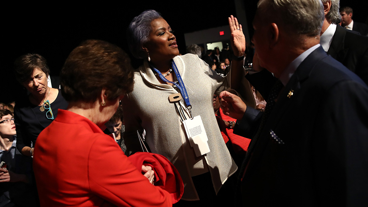 Donna Brazile attends the Presidential Debate at Hofstra University on September 26, 2016, in Hempstead, New York.
