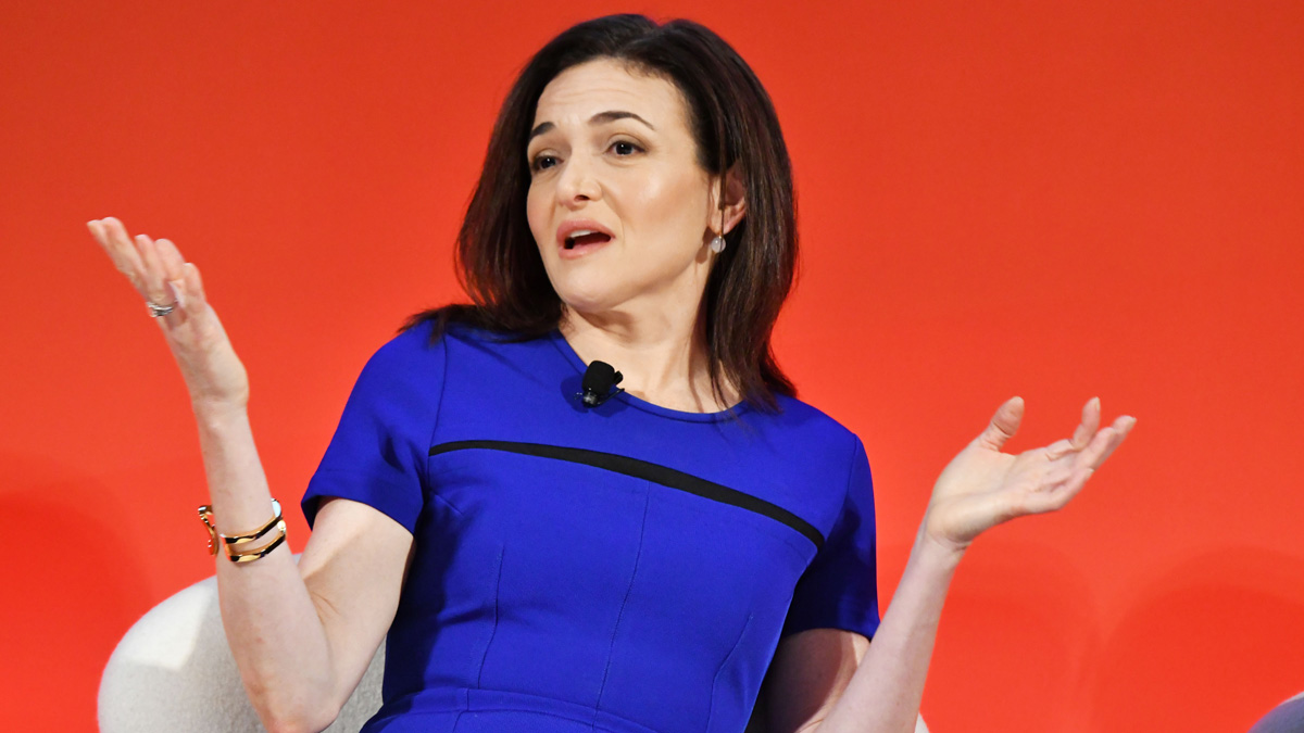 File photo: Facebook COO Sheryl Sandberg speaks onstage during the Leadership in a Mobile World - A Conversation with Facebook s Sheryl Sandberg, GM s Mary Barra, and P&G s Marc Pritchard panel at The Town Hall during 2016 Advertising Week New York on Sept. 27, 2016, in New York City.