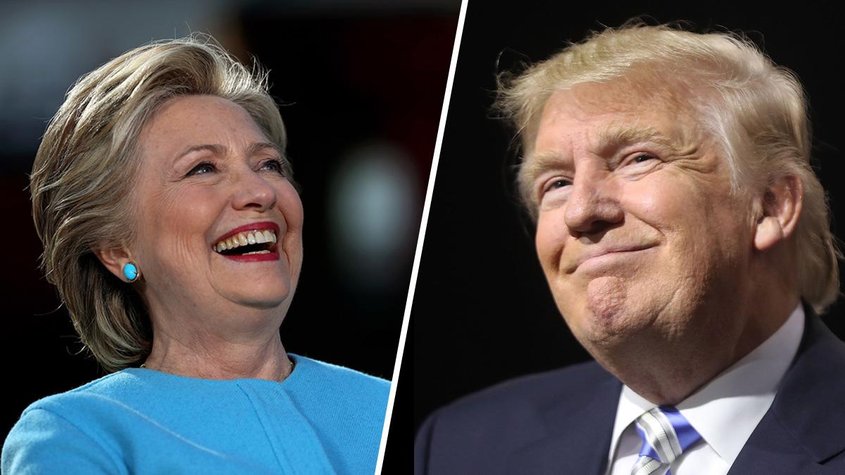 Democrat Hillary Clinton and Republican Donald Trump.