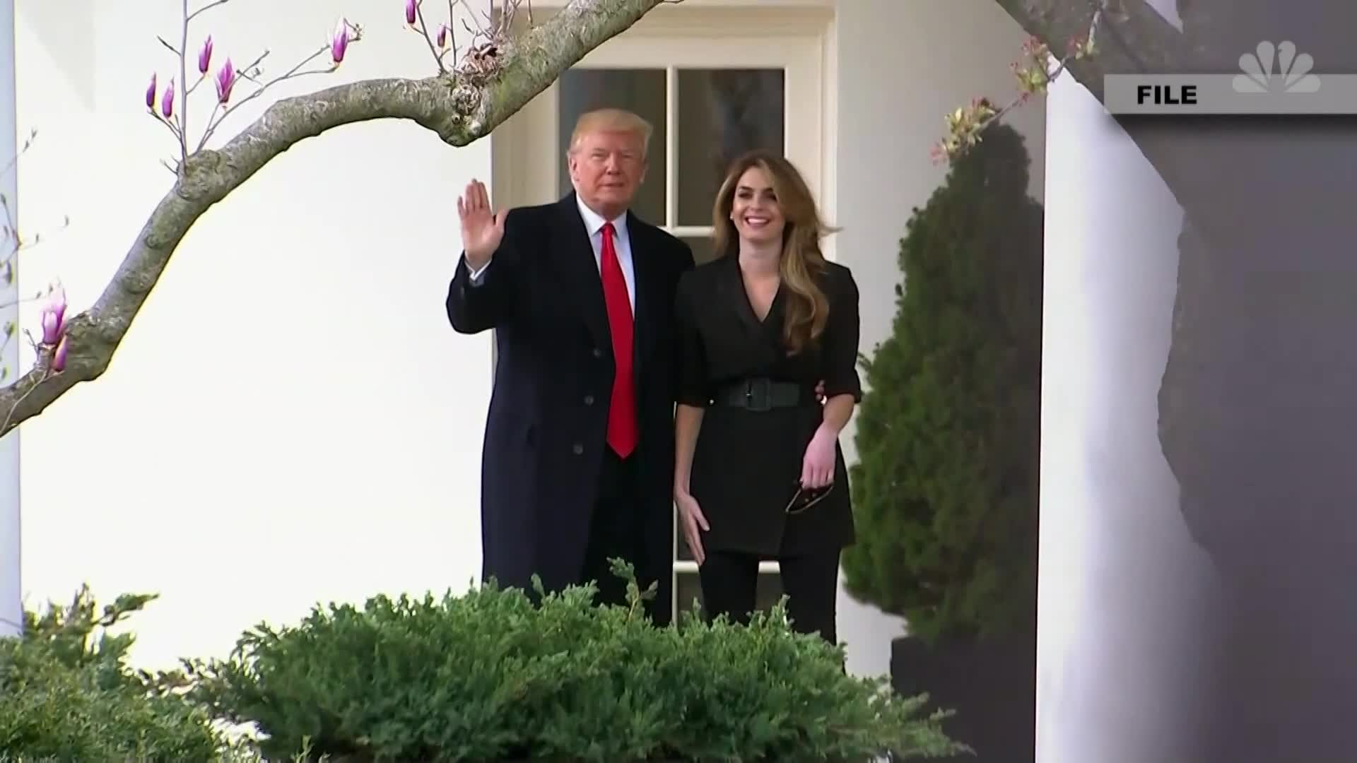 Hicks Refuses to Answer Questions on Trump White House