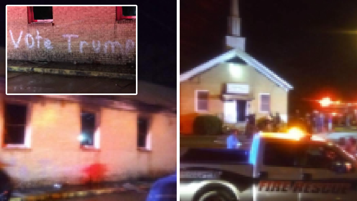 A black Mississippi church was vandalized with the words