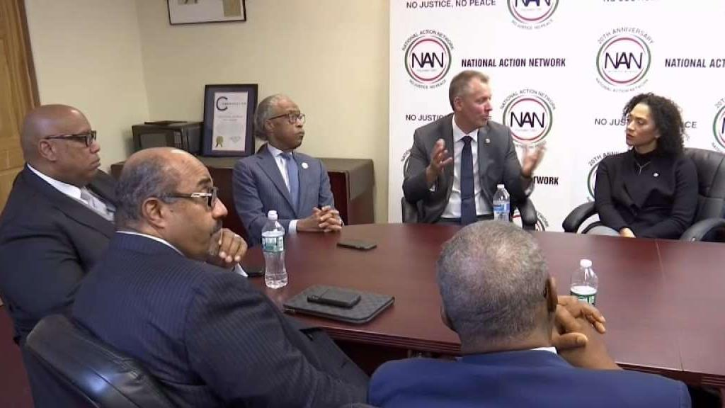 Incoming NYPD Commissioner Meets With Rev. Al Sharpton