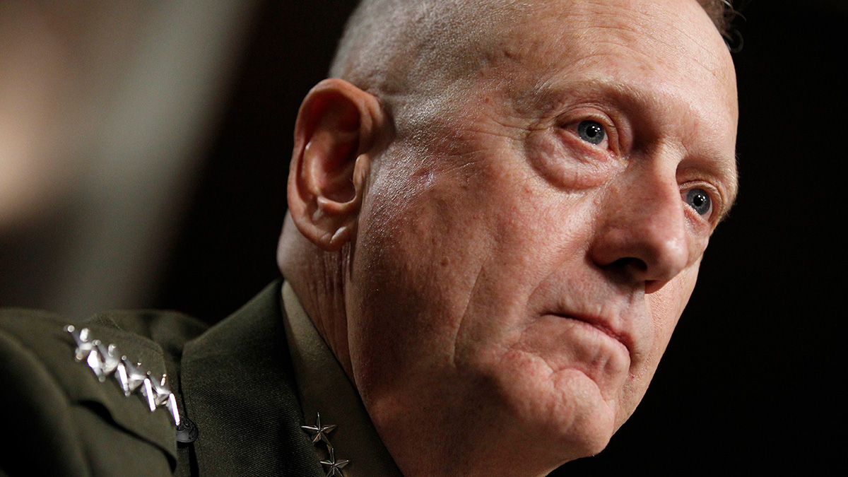 File photo -- U.S. Central Command Commander-nominee Marine Corps Gen. James Mattis testifies on Capitol Hill in Washington, DC, Tuesday, July 27, 2010, before the Senate Armed Services Committee hearing on his nomination.