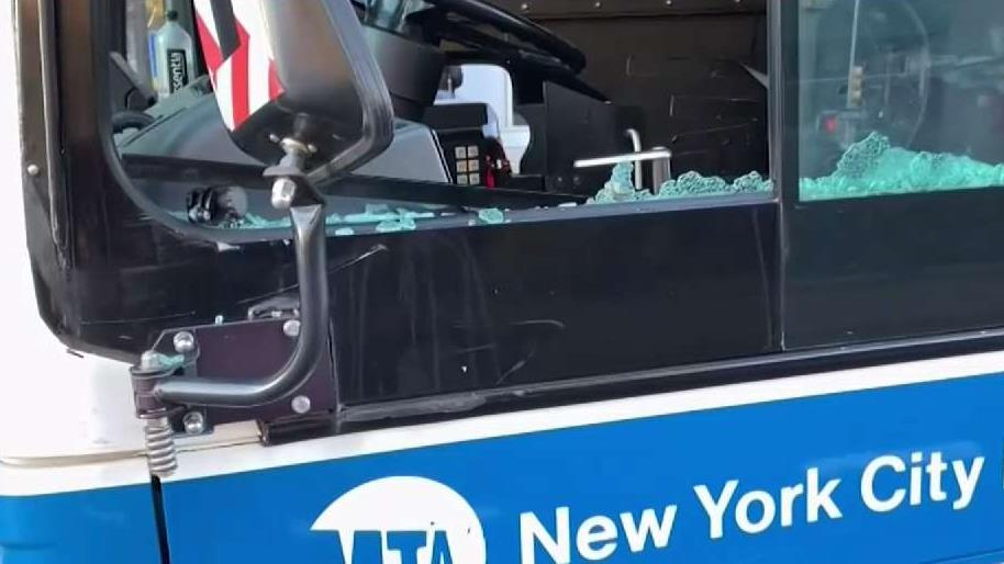 MTA Driver Gets Glass in Eye After Bottle Smashed on Window