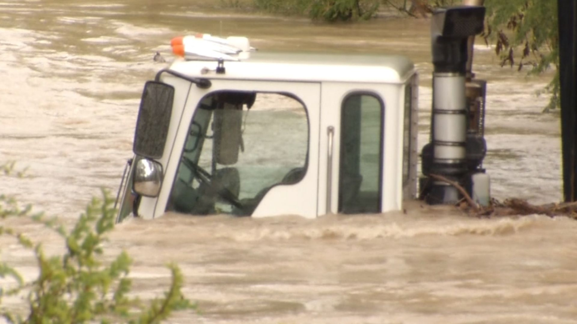 Dozens of drivers were rescued Monday when their vehicles were overtaken by flash flood waters.