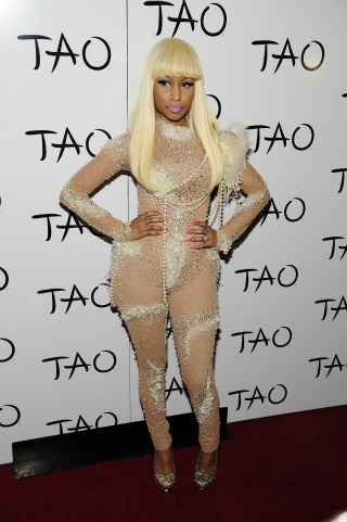 Tragically Hip: Nicki Minaj Wears Pearl-Encrusted Bodyhose