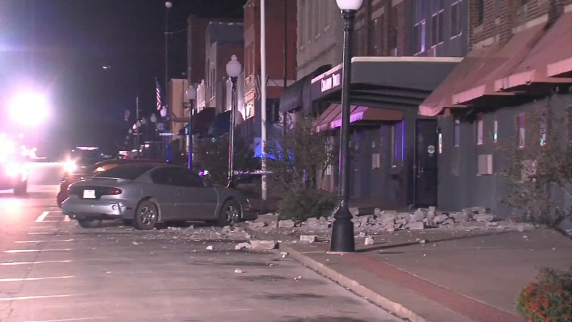 Cushing City Manager Steve Spears said 40 to 50 buildings were damaged in Sunday's earthquake, which was the third in Oklahoma this year with a magnitude of 5.0 or greater.