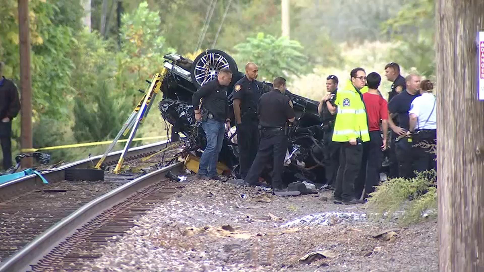 2 Teens Die in Fiery Crash When Porsche Falls From Overpass