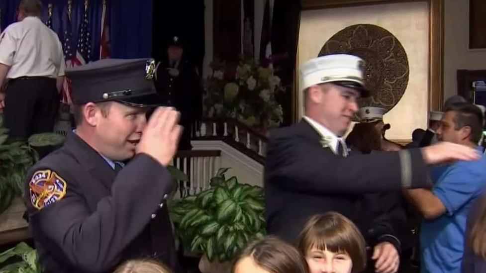 Promoted FDNY Brothers Remember Brother Killed on 9/11