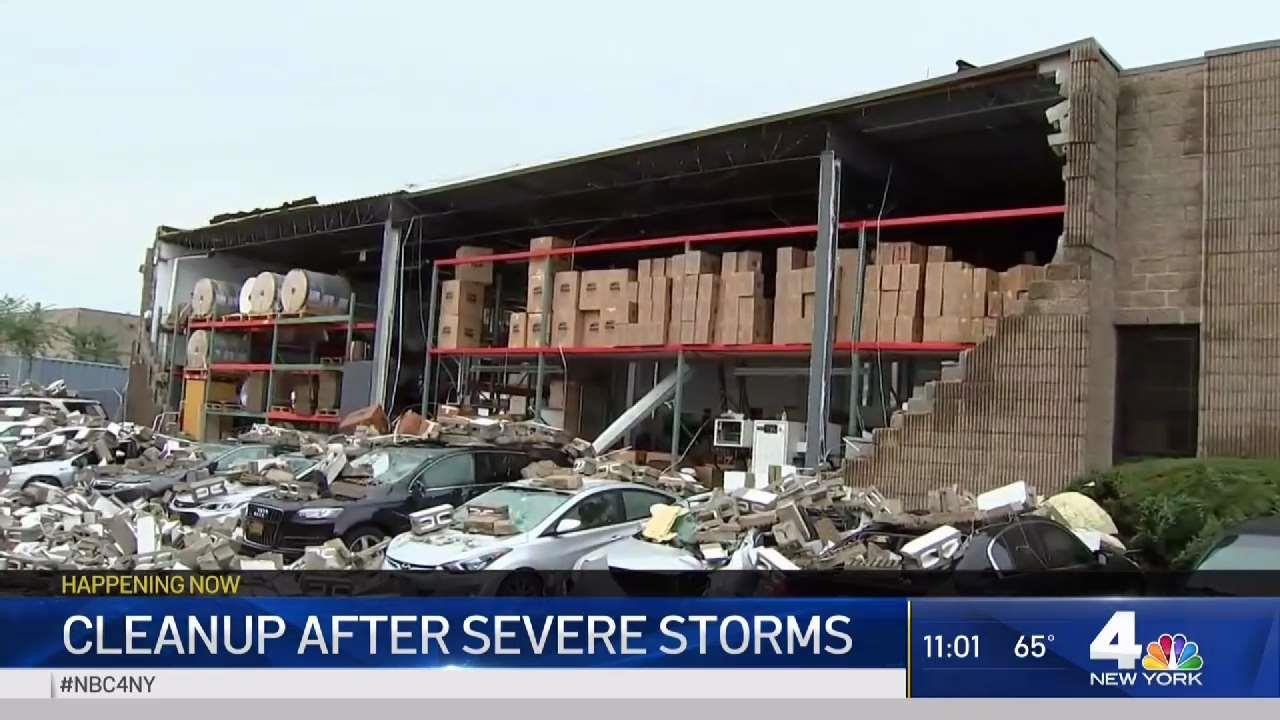 Severe Storm Leaves Trail of Damage Across Long Island