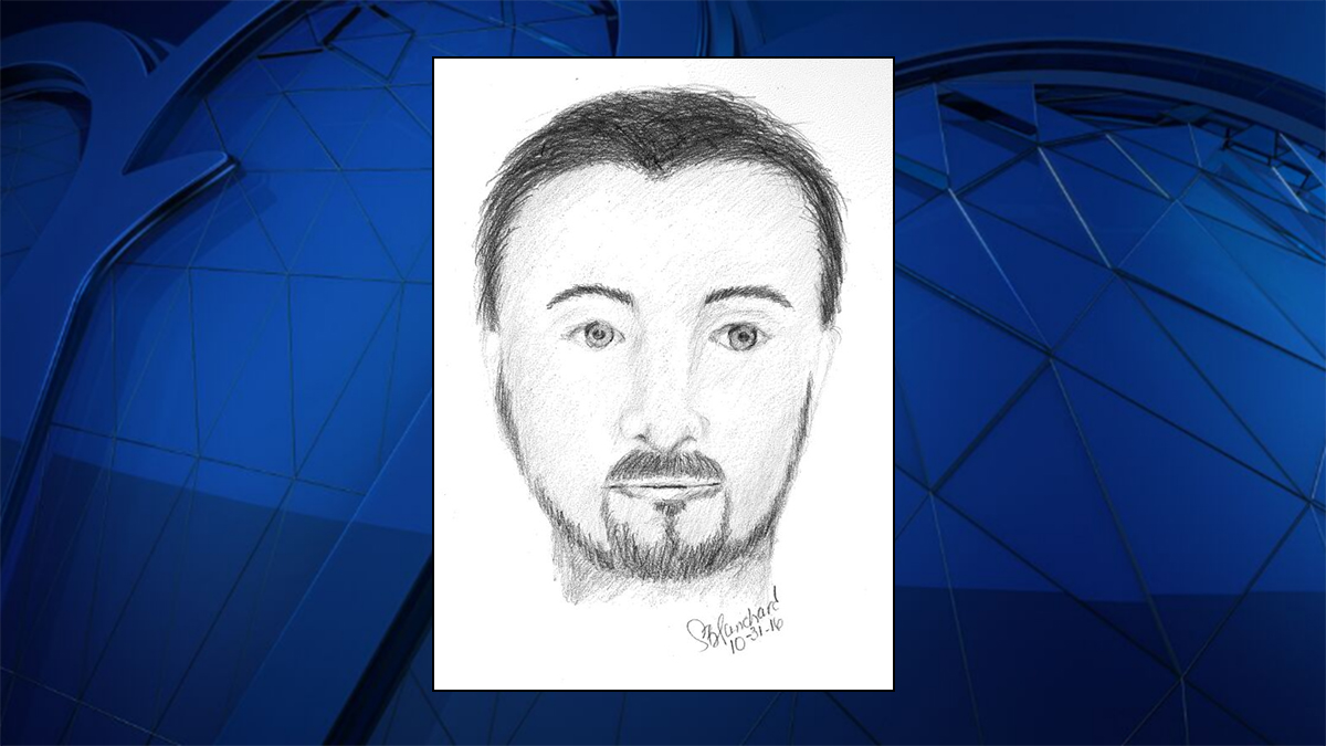 Authorities released a sketch of the suspect they say assaulted a young woman after a car crash in Stafford County.