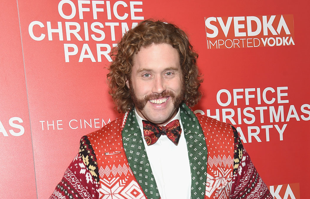 T. J. Miller attends the Paramount Pictures with The Cinema Society & Svedka host a screening of 'Office Christmas Party' at Landmark Sunshine Cinema on Dec. 5, 2016, in New York City.