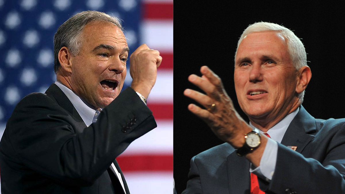 A new NBC News SurveyMonkey poll finds that many likely voters don't know much about either Tim Kaine, left, or Mike Pence, right, are.