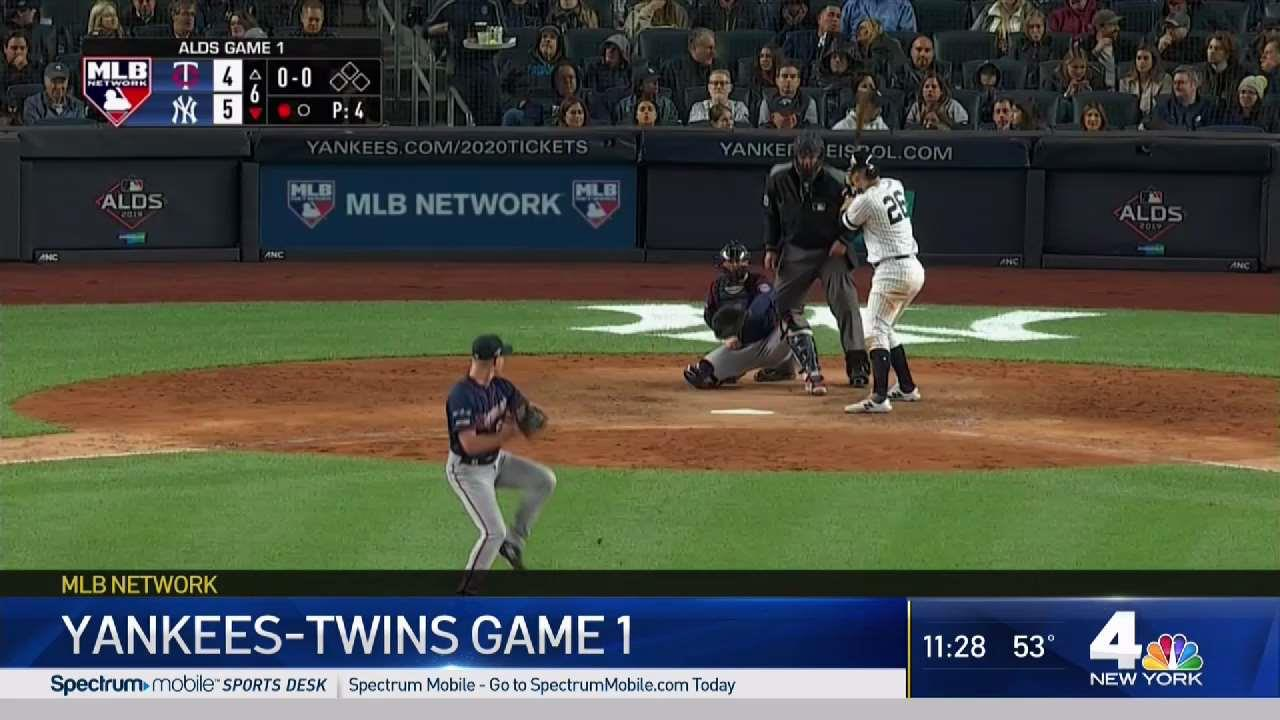Yankees Win Game 1 Against Twins