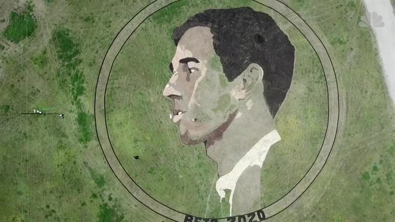 Giant Beto O'Rourke 'Crop Circle' Pops Up in Field