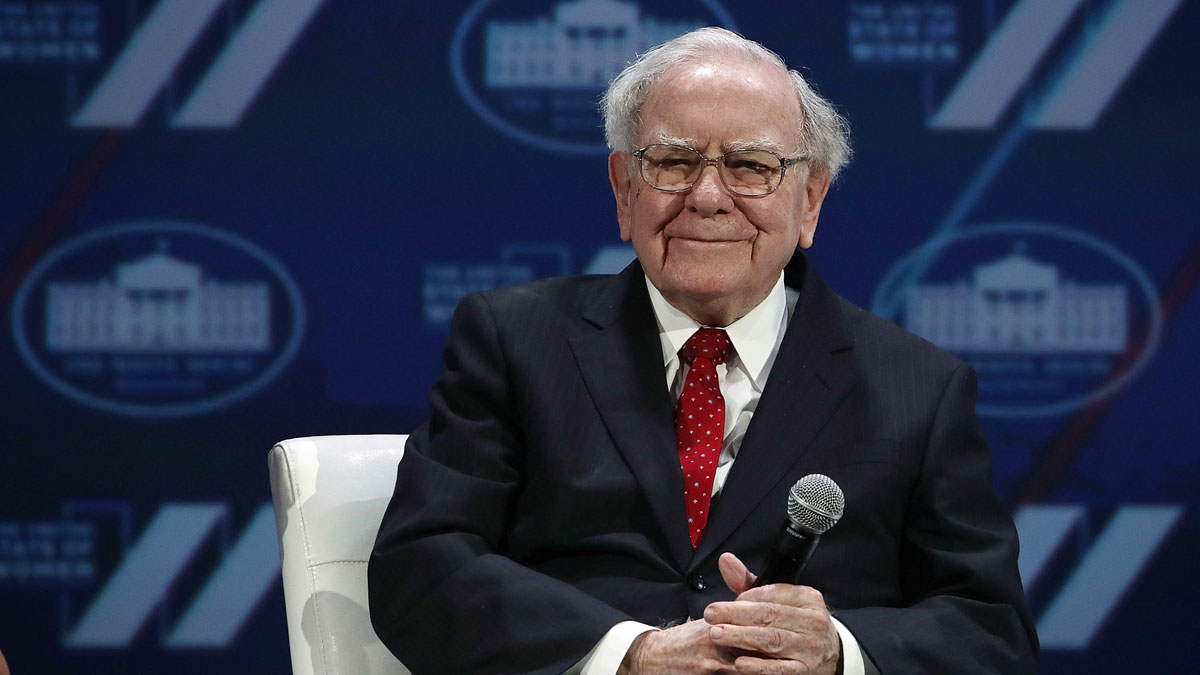 File photo of  Warren Buffet participating in a discussion during the White House Summit on the United State Of Women June 14, 2016 in Washington, DC. The White House hosts the first ever summit to push for gender equality.