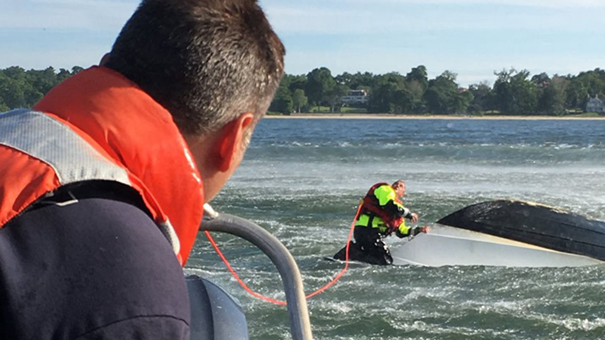 Woman Trapped Under Capsized Boat Rescued Near City Island