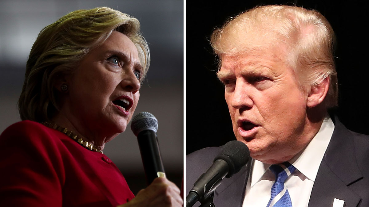 Hillary Clinton and Donald Trump. Experts say that Trump's claim that dead voters will sway the election is unlikely.