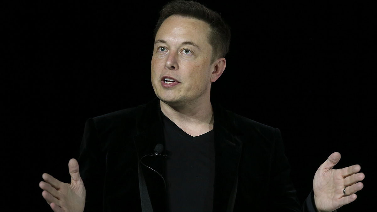 In this file photo, Tesla CEO Elon Musk speaks during an event to launch the new Tesla Model X Crossover SUV on September 29, 2015 in Fremont, California.