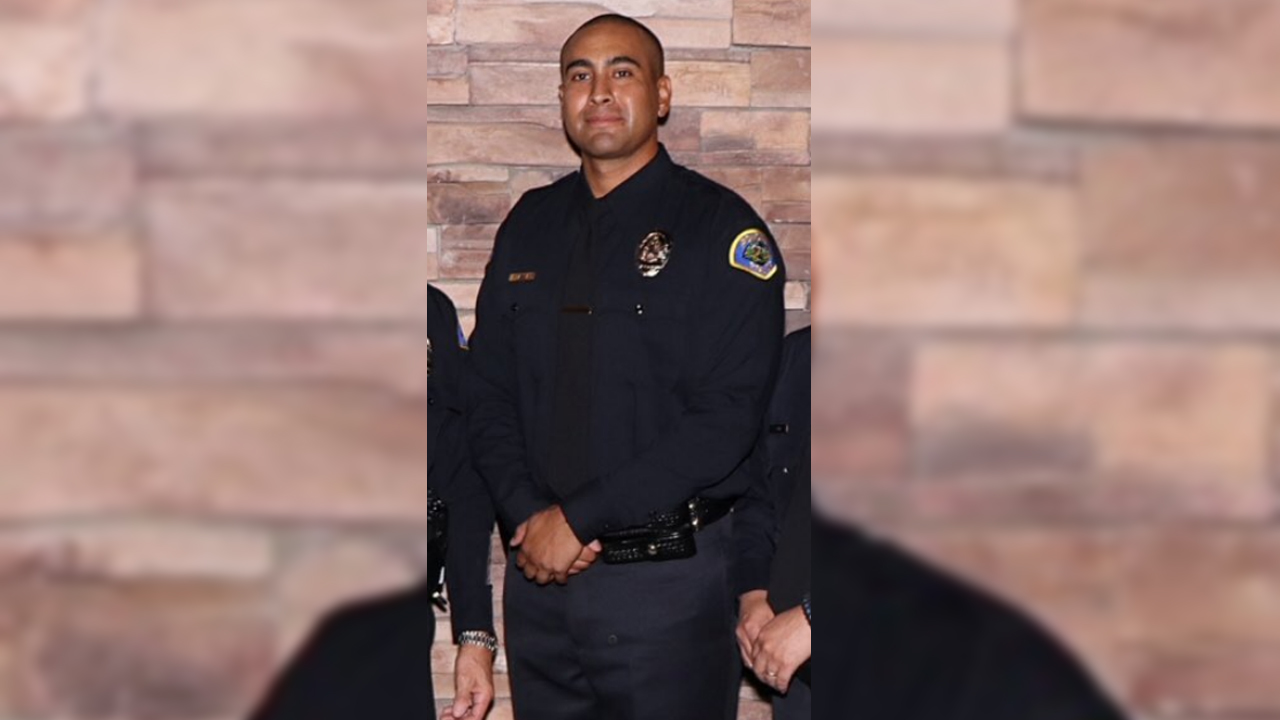 Officer Greggory Casillas, 30, of Upland, was killed when a barricaded suspect shot at him and another officer on Friday, March 9, 2018.