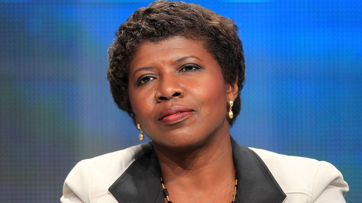 In this file photo, Gwen Ifill, Washington Week, PBS NewsHour speaks onstage at the 'PBS Election Coverage' panel during day 2 of the PBS portion of the 2012 Summer TCA Tour held at the Beverly Hilton Hotel on July 22, 2012 in Los Angeles, California.