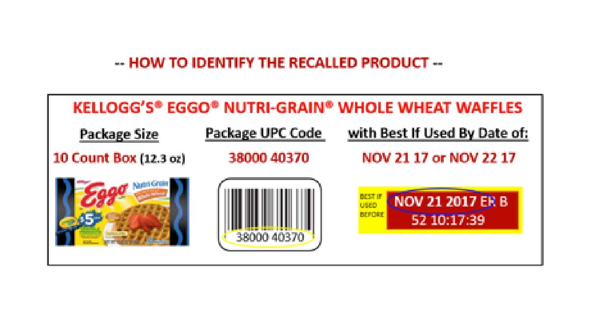 About 10,000 cases Eggo Nutri-Grain whole wheat waffles were recalled over the possibility they've been contaminated with Listeria bacteria.